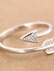 cheap -Couple Rings Cubic Zirconia Stylish Silver Copper Rhinestone Arrow Stylish Romantic Korean 1pc Adjustable / Couple's / Open Ring