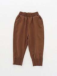 abordables -bébé Fille Basique Couleur Pleine Coton Pantalons Rose Claire / Bébé