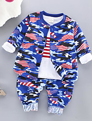 cheap -Baby Boys' Basic Daily Print Long Sleeve Regular Regular Clothing Set Blue / Toddler