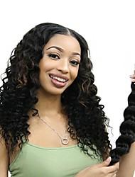 cheap -6 Bundles Mongolian Hair Deep Wave Human Hair Unprocessed Human Hair Natural Color Hair Weaves / Hair Bulk Bundle Hair One Pack Solution 8-28 inch Natural Color Human Hair Weaves Women Thick 100 / 8A