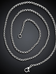 cheap -Men's Necklace Stylish Mariner Chain Creative Fashion Titanium Steel Silver 60 cm Necklace Jewelry 1pc For Gift Daily