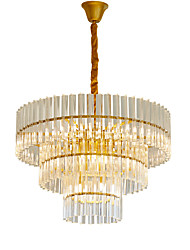 cheap -15-Light LWD 65 cm Adjustable / New Design Chandelier Metal Crystal Contemporary / LED 110-120V / 220-240V
