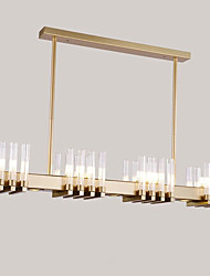 cheap -12 Bulbs 15 cm Chandelier Metal Glass Electroplated Modern 110-120V / 220-240V