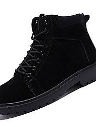 cheap -Men's PU Fall Fashion Boots Boots Mid-Calf Boots Black / Coffee / Outdoor