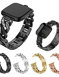 Недорогие -Ремешок для часов для Fitbit Versa Fitbit Спортивный ремешок Нержавеющая сталь Повязка на запястье