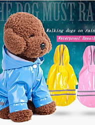 cheap -Dogs / Cats Jacket / Raincoat / Reflective Band Dog Clothes Solid Colored / Striped Red / Pink / Light Blue PU Leather Costume For Pets Unisex Waterproof / Windproof / Trendy