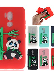 cheap -Case For LG LG G7 Pattern Back Cover 3D Cartoon / Panda Soft TPU