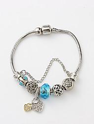 cheap -Women's Charm Bracelet Bead Bracelet Stylish Heart Ladies Vintage European Fashion Resin Bracelet Jewelry White / Blue / Pink For Party / Rhinestone