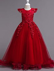 cheap -Kids Girls Party Dress Pageant Ball Gowns Chiffon Princess Formal Wedding Long Dresses