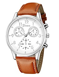 cheap -Men's Wrist Watch Aviation Watch Analog Quartz Minimalist Chronograph Cute Fake Three Eyes Six Needles / One Year / Leather