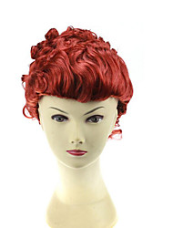 cheap -Cosplay Costume Wig Synthetic Wig Cosplay Wig Curly Bob Wig Burgundy Short Brown / Burgundy Synthetic Hair 24 inch Women's Anime Cosplay Women Burgundy