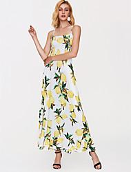 cheap -Women's Going out Maxi Slim Sheath Dress High Waist Strap Yellow S M L XL / Sexy