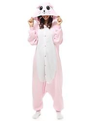 cheap -Adults' Kigurumi Pajamas Pika Pika Onesie Pajamas Polar Fleece Pink Cosplay For Men and Women Animal Sleepwear Cartoon Festival / Holiday Costumes