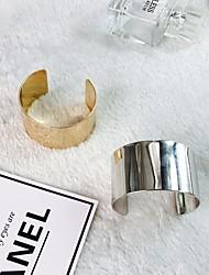 cheap -Women's Bracelet Bangles Wide Bangle Classic Stylish Creative Simple Trendy Hyperbole Alloy Bracelet Jewelry Gold / Silver For Street Club