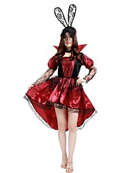cheap -Witch Costume Women's Highschool Halloween Halloween Carnival Masquerade Festival / Holiday Polyster Outfits Rose Solid Colored Lace Halloween