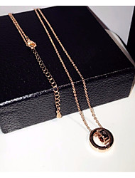 cheap -Women's Chain Necklace Charm Necklace Stylish Trace Creative Letter Stylish Geometric Unique Design Alloy Gold 40 cm Necklace Jewelry 1pc For Date Work