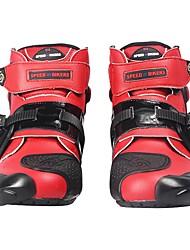 Недорогие -езда племени профессиональный мотоцикл мотоцикл сапоги мотокросс гоночные сапоги водонепроницаемый байкер защитить лодыжку мото обувь - красный