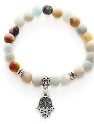 cheap -Women's Bead Bracelet Retro Beads Creative Ladies Sweet Fashion Stone Bracelet Jewelry White Hamsa Hand For Daily Festival