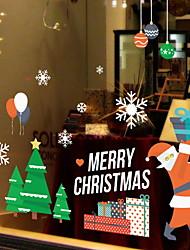 Недорогие -Рождество 62 cm 39 cm Стикер на окна Магазин / Кафе ПВХ
