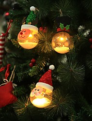 cheap -Santa Claus Christmas Snowman Deer Hanging LED Ball Christmas Tree Decoration Lamp Home Bedroom Courtyard Night Light