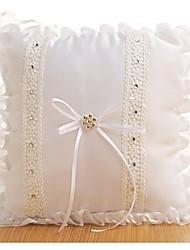 cheap -Cloth Demin Lace / Ruffle Satin Ring Pillow Beach Theme / Classic Theme / Vintage Theme All Seasons