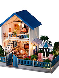 cheap -Dollhouse Lovely DIY Exquisite Romance Furniture Wooden Contemporary Kid's Adults' Girls' Toy Gift