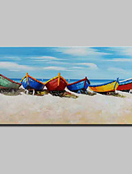 cheap -Oil Painting Hand Painted Horizontal Landscape Still Life Modern Stretched Canvas