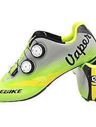 Недорогие -SIDEBIKE Взрослые Обувь для шоссейного велосипеда Углеволокно Амортизация Велоспорт Зеленый Муж. Обувь для велоспорта
