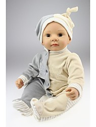 cheap -NPKCOLLECTION NPK DOLL Reborn Doll Baby Boy 22 inch lifelike New Design Blink Kid's Boys' / Girls' Toy Gift