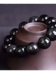 cheap -Women's Obsidian Bead Bracelet Beads Creative Ladies Asian Simple Basic Casual / Sporty Stone Bracelet Jewelry Black For Daily School