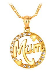 cheap -Women's Pendant Necklace Hollow Out Mother Daughter Ladies Fashion For Mother / Mom Copper Gold Silver 55 cm Necklace Jewelry 1pc For Gift Daily