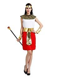 cheap -Egyptian Costume Adults Highschool Women's Halloween Costume For Polyster Solid Colored Halloween Halloween Carnival Masquerade Dress Belt Headwear / Neckwear