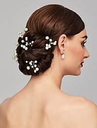 cheap -Pearl Headwear / Hair Pin with Floral 1pc Wedding / Special Occasion / Casual Headpiece