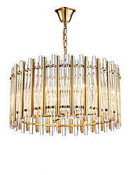 cheap -QIHengZhaoMing 8-Light 60 cm Chandelier Crystal Electroplated Modern 110-120V / 220-240V