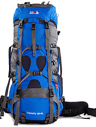 cheap -BSwolf 85 L Rucksack Breathable Rain Waterproof Wear Resistance Outdoor Hiking Cycling / Bike Camping Nylon Sky Blue Red Royal Blue