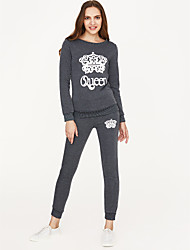 cheap -Women's Daily Hoodie Set - Other Pant / Spring / Sporty Look