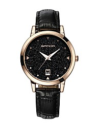 cheap -SANDA Women's Dress Watch Wrist Watch Japanese Quartz Leather Black / White / Blue 30 m Water Resistant / Waterproof Calendar / date / day New Design Analog Ladies Casual Fashion Astronomical - Brown