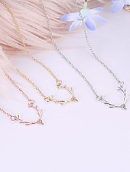 cheap -Women's Pendant Necklace Charm Necklace Rolo Deer Sweet Fashion Cute Alloy Gold Silver Rose Gold 60 cm Necklace Jewelry 1pc For Birthday Gift