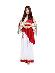 cheap -Egyptian Costume Highschool Women's Halloween Costume For Polyster Solid Colored Halloween Halloween Carnival Masquerade Dress Neckwear Wristlet