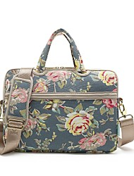 "cheap -KAYOND 13"" Laptop / 14"" Laptop / 15"" Laptop Shoulder Messenger Bag / Briefcase Handbags Canvas Pattern / Flower for Women for Colleages & Schools for Travel Water Proof Shock Proof"