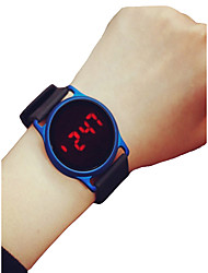 cheap -Men's Women's Sport Watch Wrist Watch Digital Watch Digital Silicone Black / Blue / Rose 30 m Chronograph LCD Casual Watch Digital Casual Minimalist - Black / Blue Black / Rose Red Black / Silver Two
