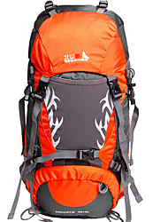 cheap -BSwolf 50 L Rucksack Breathable Rain Waterproof Wear Resistance High Capacity Outdoor Hiking Cycling / Bike Camping Polyester Nylon Orange Blue