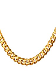 cheap -Men's Chain Necklace Link / Chain Fashion Trendy Rock Stainless Steel Silver Gold Black 55 cm Necklace Jewelry 1pc For Gift Daily
