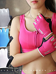 cheap -Exercise Gloves / Weight Lifting Gloves for Mountaineering / Fitness / Weightlifting Damping / Anti Slip / Wearproof Silicon / Lycra® 1 set Grey / White / Fuchsia