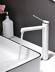 Недорогие -Ванная раковина кран - Новый дизайн Окрашенные отделки Настольная установка Одной ручкой одно отверстиеBath Taps / Латунь