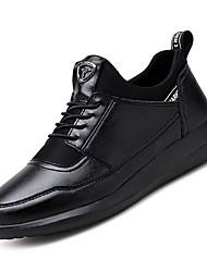 cheap -Men's Comfort Shoes PU Fall Athletic Shoes Walking Shoes Black