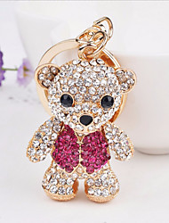 cheap -Keychain Bear Casual Cartoon Ring Jewelry Rose Gold For Holiday Going out