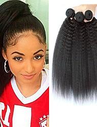 Недорогие -3 Связки Малазийские волосы Яки Натуральные волосы 150 g Человека ткет Волосы Удлинитель Пучок волос 8-28 дюймовый Нейтральный Ткет человеческих волос Лучшее качество Расширения человеческих волос