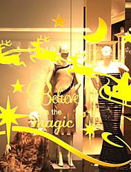 Недорогие -Рождество 59 cm 54.5 cm Стикер на окна Магазин / Кафе ПВХ