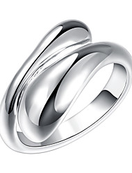 cheap -Women's Band Ring wrap ring thumb ring Silver Silver Plated Alloy Ladies Unusual Unique Design Party Jewelry Adjustable